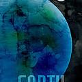 The Planet Earth Print by Michael Tompsett