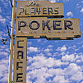 The Players Poker Cafe Print by Ron Regalado
