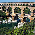 The Pont du Gard Print by Sami Sarkis