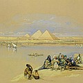 The Pyramids At Giza Near Cairo by David Roberts