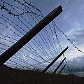 The Remains Of A Barbed Wire Fence That by Steve Raymer