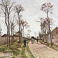 The Road To Saint Cyr At Louveciennes by Camille Pissarro