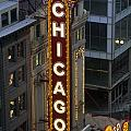 The Sign Outside The Chicago Theater by Paul Damien