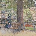 The Square at Vintimille Print by Edouard Vuillard