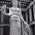 The Statue Of Athena Bw by Linda Phelps