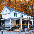 The Valley Green Inn in Autumn Print by Bill Cannon
