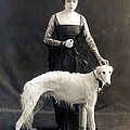 Theda Bara With Her Russian Wolfhound by Everett