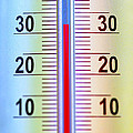 Thermometer Measuring 32 Celsius by Jaak Nilson