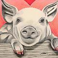 This little piggy... Print by Michelle Hayden-Marsan
