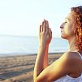 Thoughtful Woman Meditating by Cristina Pedrazzini