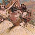 Three Dancers by Edgar Degas