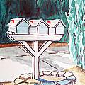 Three Mailboxes Sketchbook Project Down My Street by Irina Sztukowski