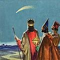 Three Wise Men Print by English School