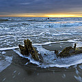 Tides At Driftwood Beach by Debra and Dave Vanderlaan