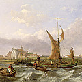 Tilbury Fort - Wind Against The Tide by William Clarkson Stanfield