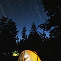 Time Exposure Of A Campers Tent by Rich Reid