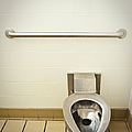 Toilet In A Public Restroom by Thom Gourley/Flatbread Images, LLC