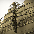 Tokyo Electric Pole by Naxart Studio