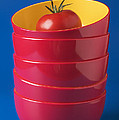 Tomato In Stacked Bowls by Garry Gay