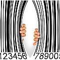 Torn Bar Code Print by Carlos Caetano
