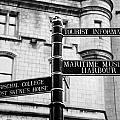 Tourist Information Signs Directions Street Aberdeen Scotland Uk by Joe Fox