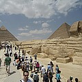 Tourists View The Great Sphinx by Richard Nowitz