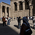 Tourists Wander Through The Temple by Taylor S. Kennedy