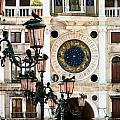 Tower Clock In Saint Mark's Square by Susan Holsan