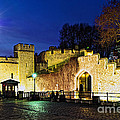 Tower Of London Walls At Night by Elena Elisseeva
