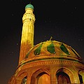 Towering Mosque in the Night Print by Rick Frost