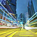 Traffic Trails In City by Leung Cho Pan