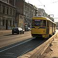 Tramway In The Morning Light by Frederic Vigne