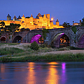 Twilight over Carcassonne Print by Brian Jannsen
