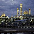 Twilight View Of An Illuminated Mosque by Paul Chesley
