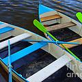 Two boats Print by Carlos Caetano