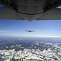 Two Ec-130j Commando Solo Aircraft Fly by Stocktrek Images
