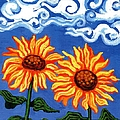Two Sunflowers by Genevieve Esson