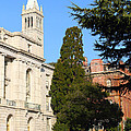 Uc Berkeley . Sather Tower Campanile . Wheeler Hall . South Hall Built 1873 . 7d10040 by Wingsdomain Art and Photography