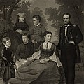 Ulysses S. Grant With His Family When by Everett
