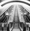 Underground Escalator by Archive Photos