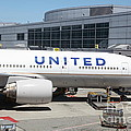 United Airlines Jet Airplane At San Francisco Sfo International Airport - 5d17109 by Wingsdomain Art and Photography