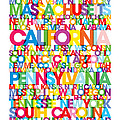 United States Usa Text Bus Blind by Michael Tompsett
