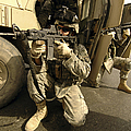 U.s. Army Soldiers Providing Overwatch by Stocktrek Images