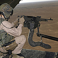 U.s. Marine Test Firing An M240 Heavy by Stocktrek Images