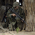 U.s. Marines Prepare To Enter A House by Stocktrek Images