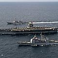 U.s. Navy Ships Transit The Atlantic by Stocktrek Images