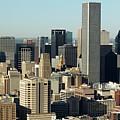 Usa, Texas, Houston, Dwontown, Aerial View by George Doyle