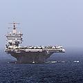 Uss Enterprise In The Arabian Sea by Gert Kromhout