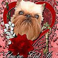 Valentines - Key To My Heart Brussels Griffon by Renae Laughner