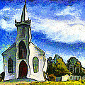 Van Gogh.s Church On The Hill 7d12437 by Wingsdomain Art and Photography